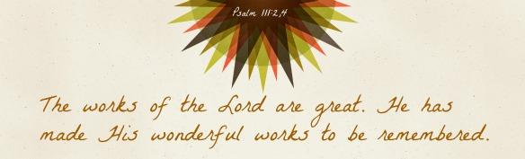 Psalm 111.2,4