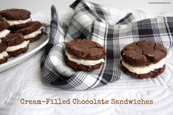 Cream Filled Chocolate Sandwiches