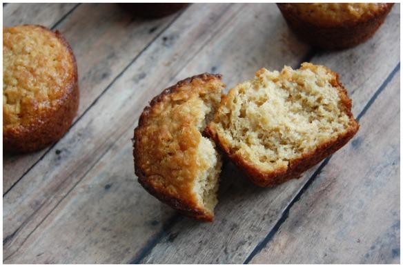 Oatmeal Muffins Split