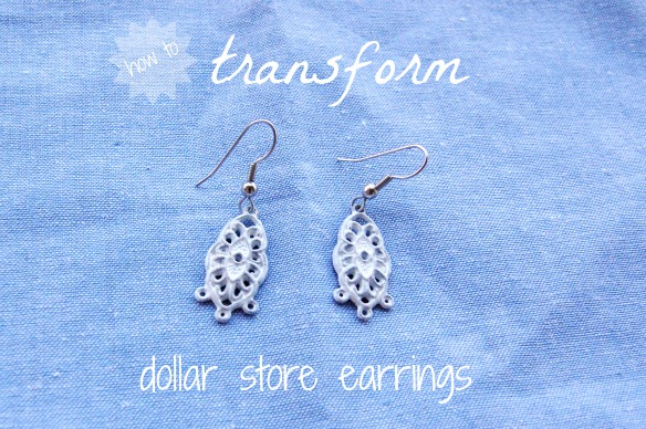 How To Transform Dollar Store Earrings