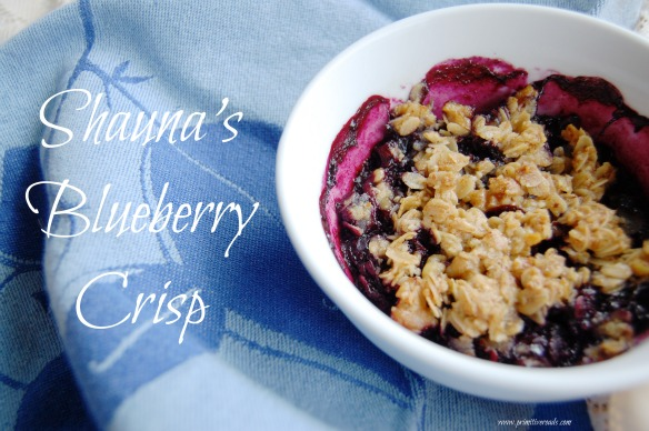 Shauna's Blueberry Crisp