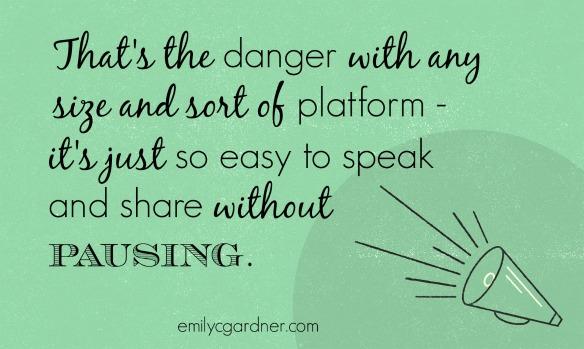 Platform danger