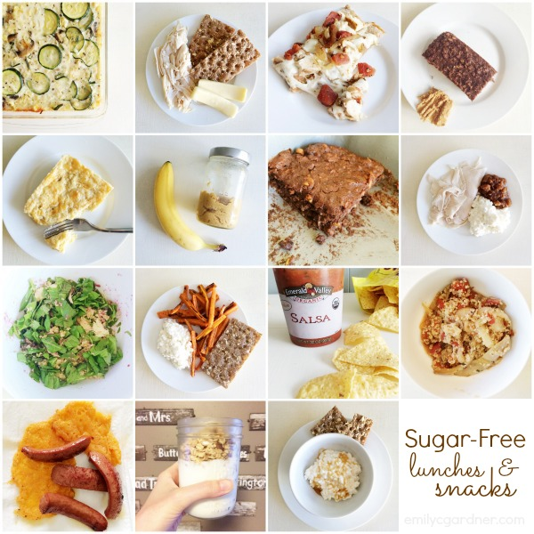 sugar free lunch and snacks