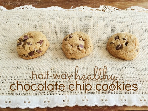 Half-way healthy Chocolate chip cookie